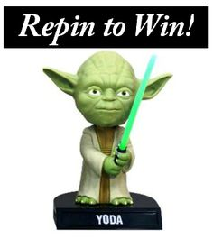 Star Wars #giveaway! Repin and follow for a chance to win this Yoda bobblehead! Ends 12 p.m. ET, Friday, 5/11/12. U.S. only. #MicroCenterPromos