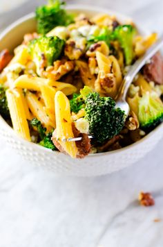 Penne with Sausage, Broccoli and Gorgonzola