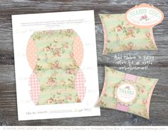 INSTANT DOWNLOAD  Printable Pillow Box Party by PaperDimeDesign, $3.95