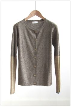 Japanese Silk Straw Gold Combi Cardi by youasme measyou