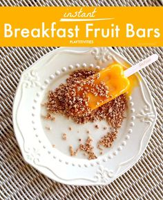 Instant Breakfast Fruit Bars with Fruttare