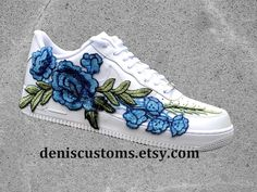 Nike Air Force 1 Low White with Flower Bomb Floral Embroidered