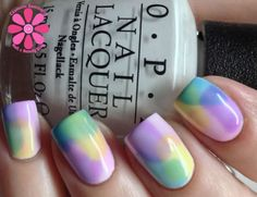 Nail art using new OPI Sheer Tints