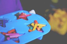 5 inside activities to do with small kids, including baking new crayons (in fun shapes) from old stubs