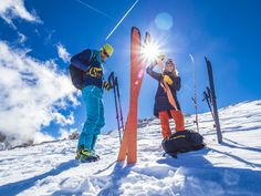 Fantastic Clothes, Boots & Skis for your Ski Touring & Ski Mountaineering Activities ⟹ Ski touring trousers, boots, pants & more at La Sportiva® UK △ Ski Touring, Mountaineering, Skiing, How To Memorize Things, Man Shop, Superhero, Sport, Boots, Clothes