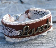 Lovely Leather and Lace Bracelet | AllFreeJewelryMaking.com