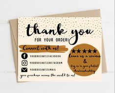 Small Business Cards, Business Thank You Cards, Business Card Design, Diy Business Ideas, Baking Business Cards, Etsy Business Cards, Business Stickers, Business Tips, Cute Thank You Cards