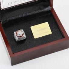 NHL 2013 CHICAGO BLACKHAWKS STANLEY CUP Championship Replica Ring with Plaque