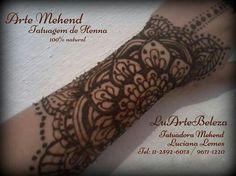 Mehend -  São Paulo - Brasil Luartebeleza arte em henna Www.luartebeleza.webnod.com Particular e eventos.