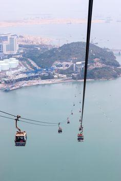 Ngong Ping 360 cable car to the Big Buddha on Lantau Island, Hong Kong