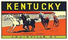 Kentucky Derby Horse Racing Vintage Looking Travel Decal Luggage Label Sticker | eBay