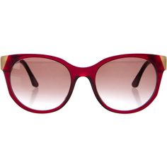 Pre-owned Thierry Lasry Peroxxxy Sunglasses ($145) ❤ liked on Polyvore featuring accessories, eyewear, sunglasses, burgundy, thierry lasry sunglasses, acetate sunglasses, burgundy glasses, brown gradient sunglasses and thierry lasry