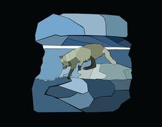 Curioos.com   Artic Wolf by Sarah Sabine + Diamond  - http://pinterest.com/curioos