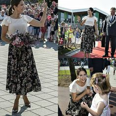 Crown Princess Mary of Denmark opened a new school in Aabybro (Jutland) today.
