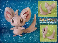 Paperpokés - Pokémon Papercrafts: MINCCINO Minccino :D Its so sweet~ Pokemon, Papercraft Minccino for kids, Papercraft, Minccino Papercraft, awesome, cute, cool, nintendo, Minccino