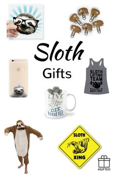 Sloths are loveable and lazy. They're interesting to look at and quirky in their own way. We've got some great gifts for that quirky and loveable sloth lover that you know.  #GIFTED #sloth