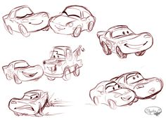 Cars Sketches by sharkie19 on @DeviantArt