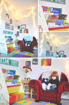 Kids Bedroom Reading Corner reading corner for kids, with a dog bed :) | cute kid spaces