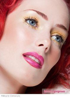 Party Yellow Eye Makeup