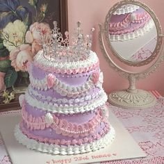 Pretty Birthday Cakes, Pretty Cakes, Cute Baking, Cute Desserts, Just Cakes, Cafe Food, Cake Shop, Love Cake, Aesthetic Food