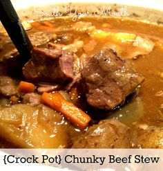Chunky Beef Stew {Crock Pot}