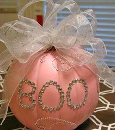 BOO - pink girly pumpkin