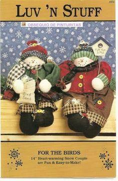 Amor-Perfeito-Amor: Bonecos de neve - patch com molde