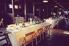 I love barn weddings, especially the dining alcoves in the stalls.