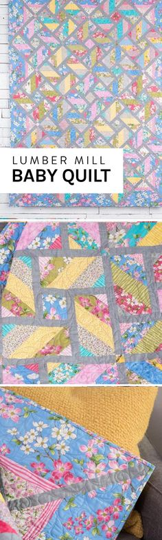 The color and pattern in this beautiful baby quilt are full of movement.