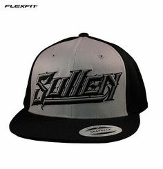 Sullen Art Collective Fallout Snapback Hat by Flexfit Grey/Black 3D Embroidery