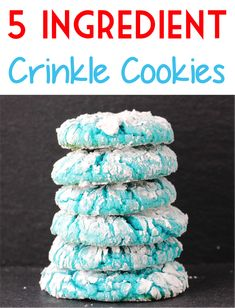 Cake Mix Cookies Recipes Easy! This crinkle cookie made with powdered sugar is one of my favorite dessert table ideas! Cake Mix Cookie Recipes, Cake Mix Cookies, Best Cookie Recipes, Yummy Cookies, Dessert Recipes, Powdered Sugar Cookies, Sugar Cookies Recipe, 5 Ingredient Desserts, Easy Summer Desserts