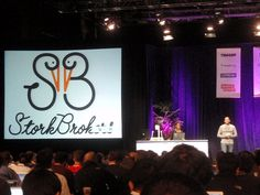 Launch Conference 2011- Launching of StrokBrokers ( Co-founders Sterling & Bridget Hawkins on stage)