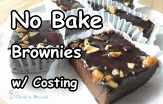 Serve 6 to 8  Total Ingredient Cost = ₱ 98.15/ $2  Ingredients and Prices  1 cup All Purpose Flour = ₱ 12.75  1/2 cup Unsweetened Cocoa ...