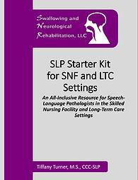 Printable materials for the SNF setting! Includes handouts and tx materials for dysphagia, speech-language, cognition, and more!