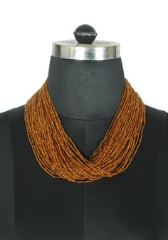 Brown Beaded Tribal Necklace – Desically Ethnic
