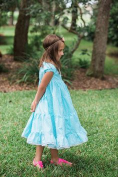 Girls Dress - Peasant Dress - Ruffle Dress - Princess Dress - Girls Aqua Dress - Girls Polka Dot Dress - Boutique Dress - Flower Girl Dress by DenimandRuffles on Etsy https://www.etsy.com/ca/listing/466729644/girls-dress-peasant-dress-ruffle-dress