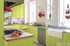 Lime Green And White  - ELLEDecor.com