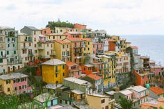 Cinque Terre Italy Photo Print - Coast View Travel Wanderlust Photography by TinyBeeArt