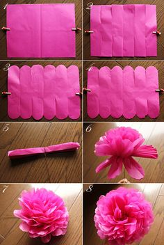 How to make tissue paper flowers four ways pinterest wedding paper flower mightylinksfo