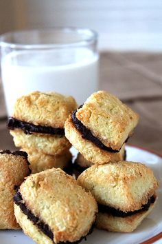 Chocolate Ganache Stuffed Coconut Lime Macaroons