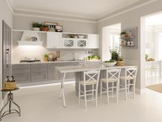 New kitchen decor retro shabby chic ideas