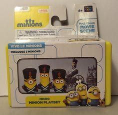 Micro Minion Playset Vive Le Minions New   eBay