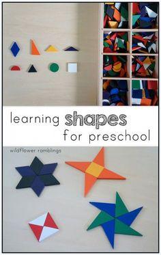 learning shapes for preschool - Wildflower Ramblings: learning shapes for preschool - Wildflower Ramblings