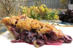 Canadian Concord Grape Pie with Crumb Topping