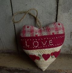 Primitive LOVE heart