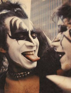 Gene Simmons and Ace Frehley of KISS.