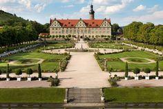 Panoramic view of the castle garden at Schloss Weikersheim