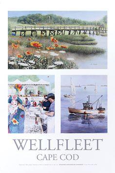 Cape Cod local art, Wellfleet, by S. Doucette.