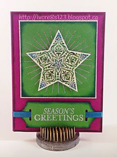 Linda Vich Creates: Making It Sparkle. A sparkly Christmas card created using the Diamond Dust Technique with Bright & Beautiful and Kinda Eclectic stamps, along with the Scalloped Tag Topper punch. #fridaymashup185