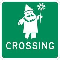 lol. We will have to make a gnome crossing sign. Love!